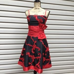 Dancing Queen l Red & Black Party Mini Dress